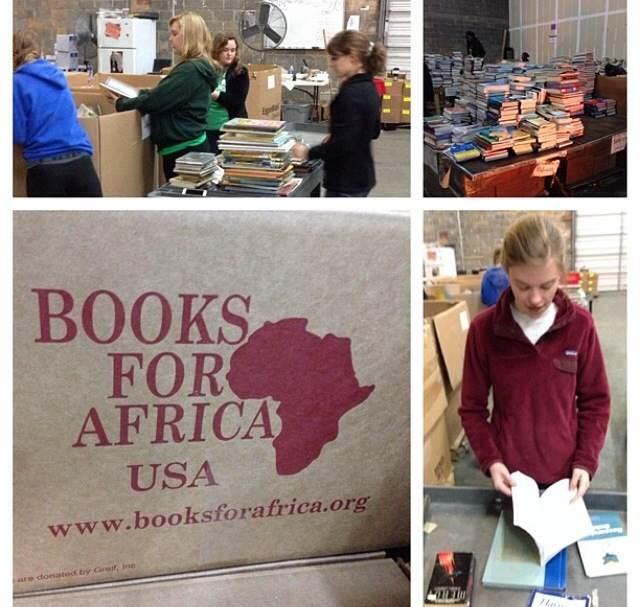 Packing books! via Drew Ritzel.