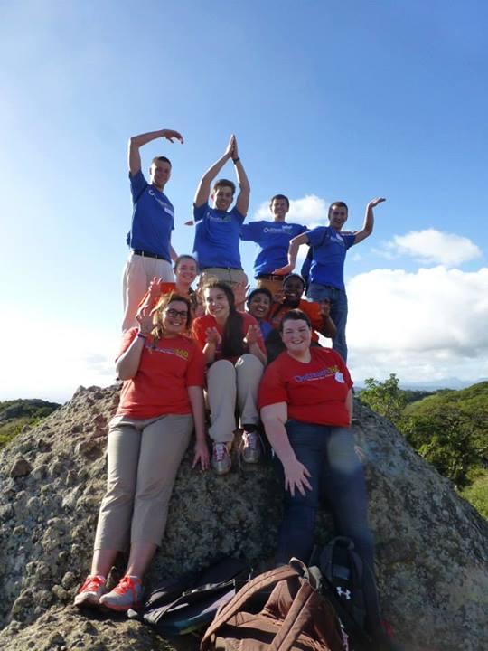 Showing UK spirit after hiking the Peña de la Cruz!